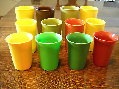 (12)Tupperware Mixed Lot Tumblers 12 Oz/8 0Z/bell Harvest Colors #873 #1320 #109