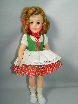 "Vintage Ideal Vinyl Shirley Temple--15""-Original Tagged Heidi Outfit"