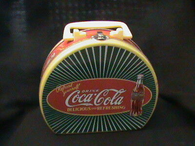 Coca Cola Tin Purse Lunch Box Red Green Yellow