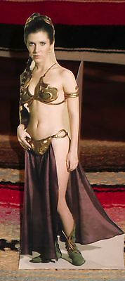 """Princess Leia Star Wars Carrie Fisher Color Movie Tabletop Display Standee 10.5"""""""