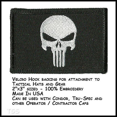 Punisher Tactical Patch - Black by Gadsden and Culpeper tactical skull Glock