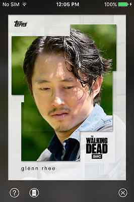 DIGITAL CARD Topps The Walking Dead White Collage Full Set With Award