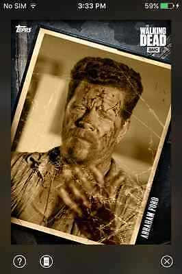 DIGITAL CARD Topps The Walking Dead Fallen Series 2 Full Faded Set With Award