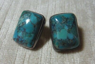 Jay King Mine Finds Desert Rose Trading Co Large Turquoise Post Earrings 925