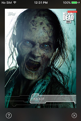 DIGITAL CARD Topps The Walking Dead White Photo Portraits Full Set With Award