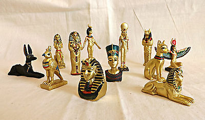 Ancient Egyptian Mini Figurines~Sphinx~Anubis~Tutankhamun~Nefertiti~Sekmet~Isis