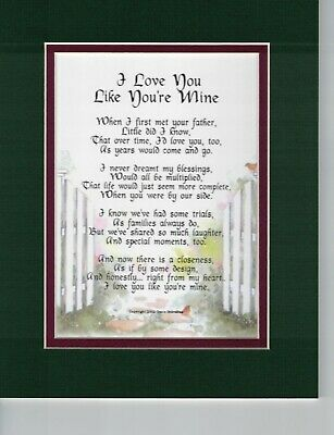 POEM FOR MOTHERS - To My Other Mom (from Son-in-Law) 11x14