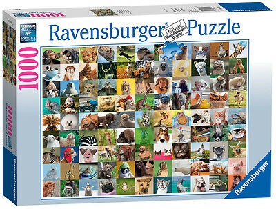 19642 Ravensburger 99 Funny Animals Jigsaw 1000pc Puzzle Adult Children 12+