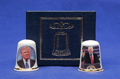 Donald Trump 45th President of USA Box Set of 2 Exclusive Thimbles B/178