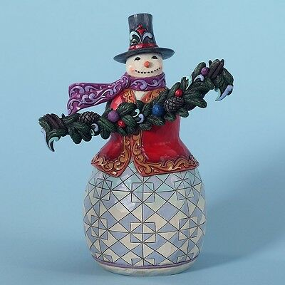 Jim Shore Heartwood Creek 'Trimmed With Good Tidings' Evergreen Snowman 4027712