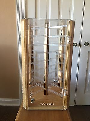 Large Countertop Rotating Acrylic Jewelry Display Case~Earring/Necklace