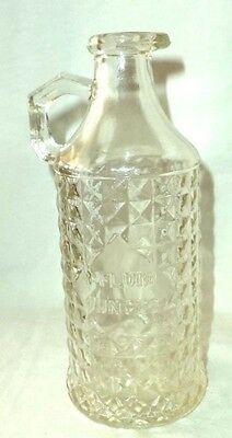 Horne Glass Bottle Pouring Lip & Handle 8 Fluid Ounces D in Diamond Mark