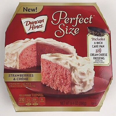 Duncan Hines Perfect Size Strawberries N Creme Cake & Frosting Mix 9.4 oz