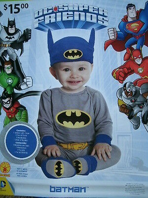 CHILD'S HALLOWEEN COSTUME *BATMAN* INFANT/BABY 6-12 months NEW IN PACKAGE