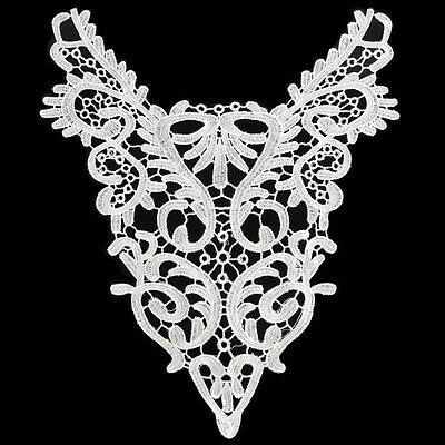 Off-White Lace Neckline Applique 14 x 17 in. Top Quality