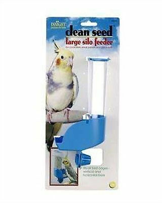 JW Pet Company Insight Silo Feeder Bird Accessory Large Assorted Colors