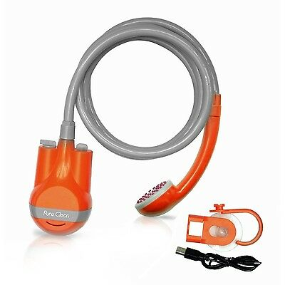 Pure Clean Battery-Powered Handheld Portable Shower Cleaning System Waterproo...