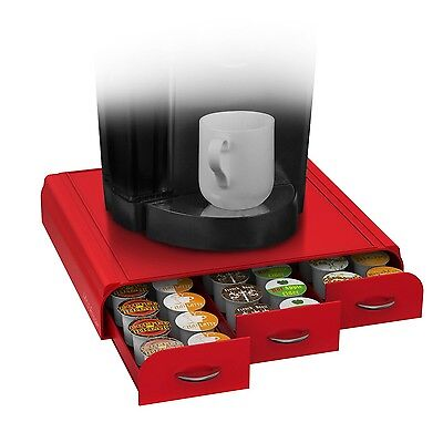 "Mind Reader TRY3PC-RED ""Anchor"" Coffee Pod Storage Drawer for 36 Keurig K-Cup..."