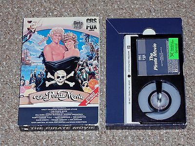 The Pirate Movie BETA Betamax 1982 Complete Kristy McNichol Christopher Atkins