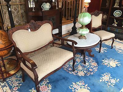 Victorian Settee And Chair Set