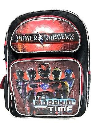 "Licensed 2017 Saban's Power Rangers It's Morphin'Time 16"" Large School Backpack"