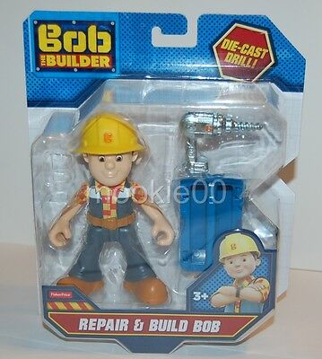 Repair & Build Bob - Bob the Builder Action Figure - Fisher Price - NIP - 2016