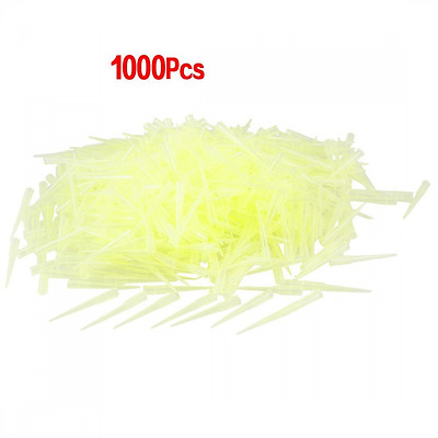 Teenitor Laboratory Clear Yellow 200UL Lab Liquid Pipette Pipettor Tips 1000 Pcs