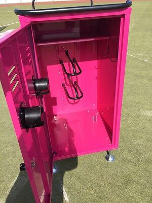 New To UK Equestrian Tack Lockers With Heavy Duty Wheels In Pink