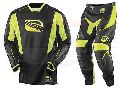 MSR Xplorer Summit Black/Hi-Vis Off Road Gear Jersey Pant Combo Set Motocross