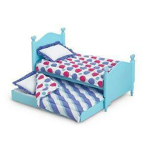 NEW American Girl Bitty Twins Trundle Bed Bedding Retired/NIB