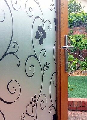 90 CM x 1.5 M - Poppy Removable Frosted Window Glass Film for privacy