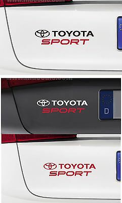For TOYOTA - TOYOTA SPORT - 1 x CAR DECAL STICKER -  Fits All Models - 195mm
