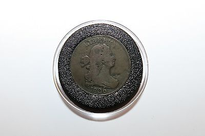 1806 Draped Bust Half Cent - Large 6 Stems - Nice VG/F