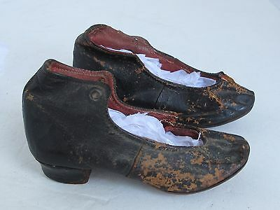 Pair Antique Early Doll or Child's Shoes Unusual