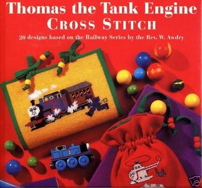 THOMAS the TANK & FRIENDS - CROSS STITCH BOOK BY H. TURVEY **20 DESIGNS**NEW**