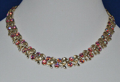 Spectacular And Beautiful Vintage Designer Signed Coro, Gold Toned Necklace