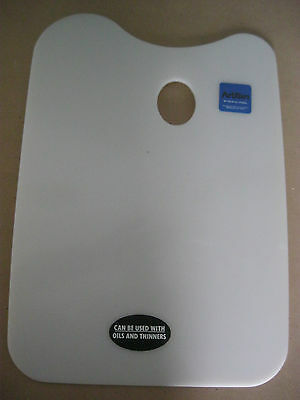 ArtBin Artist Plastic Palette which resists stains, oils, thinner, etc.