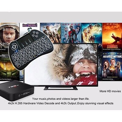 Fully Loaded T95M-2GB Bluetooth Quad-Core Android Movie TV Box+Backlit Keyboard