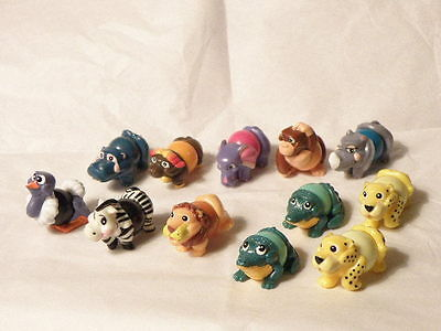 Kinder Surprise Ball Animals 10 Plus 1 Extra Croc And Leopard Figures Very Rare