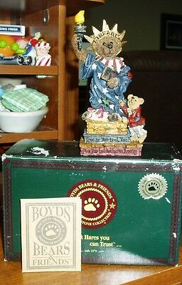 Boyds Bears Ms. Libearty Bearstone Figurine - Iob!