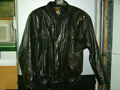 Vintage leather Motorcycle Jacket Short    Free shipping!