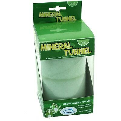 Happypet Mineral Tunnel/Trim Teeth/Boredom Buster/Play-Hamster/Mice/Rodents/Rats