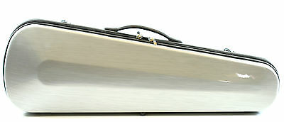 Lightweight Brushed Metal Look Dart Violin Case 4/4 Size Many Features PET Shell