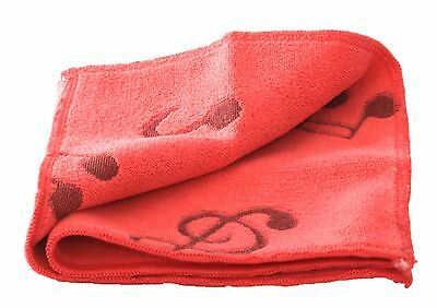 Hot Pink Musical Symbols Micro Fibre Face Washer Towel with Overlocked Edges