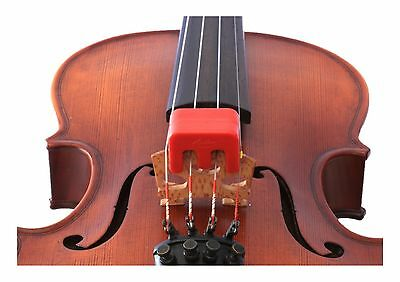 *NEW* Otto Musica Artino Weighted Red Violin/Viola Practice Mute 4/4 Size