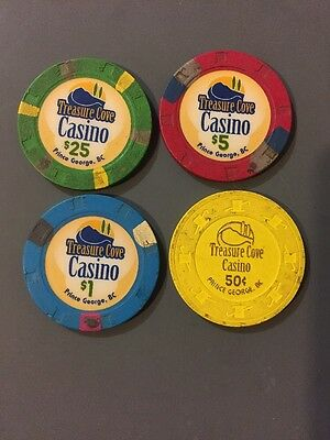 TREASURE COVE CASINO CHIPS. Vintage Casino Chips From Prince George.