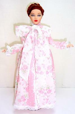 "Tonner Tiny Kitty Floral Peignoir Nightgown + Robe Fashion Outfit fits 10"" Doll"