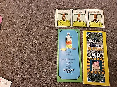 3 Get Well Vintage Retro Cards Unused Craft Scrapbooking Collecting