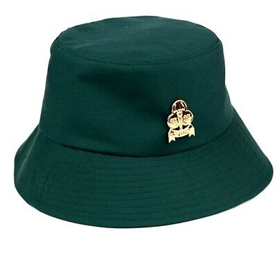 Girl Scout Hat dark Green Fabric with Pin CollectibleThailand New