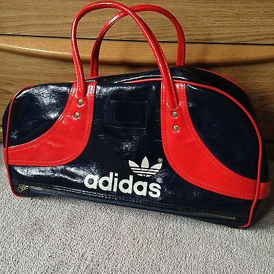Authentic Classic Vintage 70's Adidas  Weekender Gym Bag Gloss Blue Red NOS